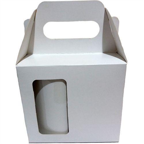 Caixinha de Caneca Branca Sublimável com Alça e Janela (AL3000) - 10 Unidades