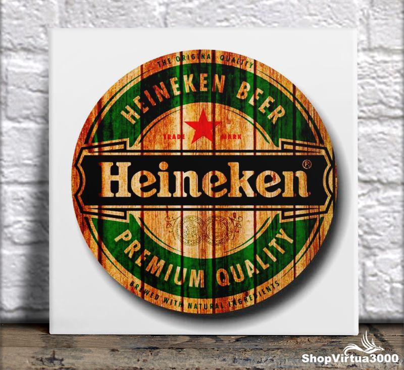 Azulejo Ultra Brilho 15x15cm / 20x20cm Personalizado Heineken (AL2002 - AL2004) - 01 Unidade