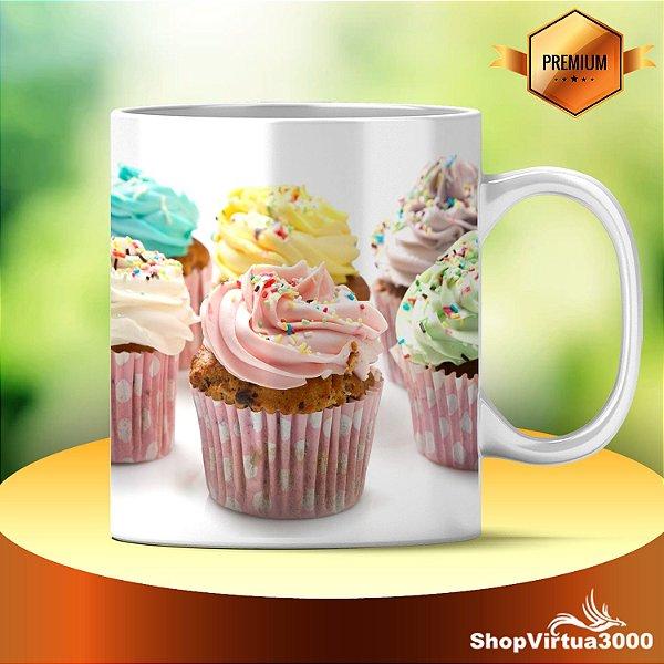 Caneca Cerâmica Classe +AAA Personalizada Cupcakes - 01 Unidade