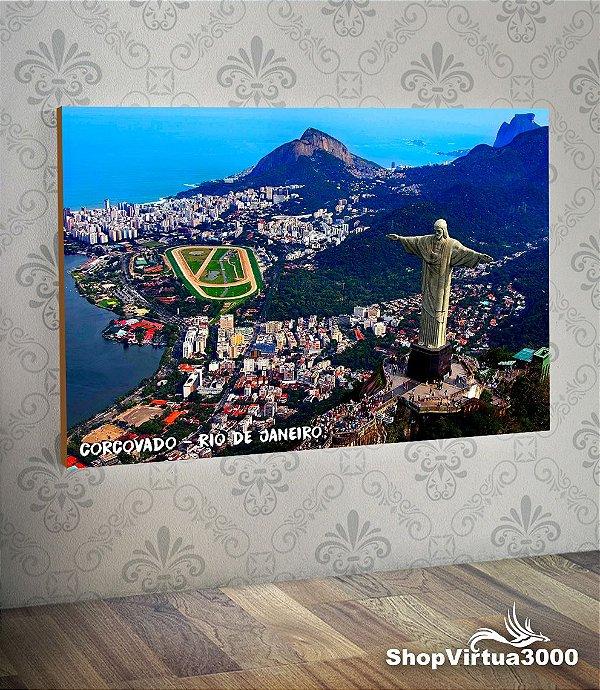 Placa em MDF Horizontal 6mm Ultra Brilho Personalizado Corcovado Rio de Janeiro - 01 Unidade