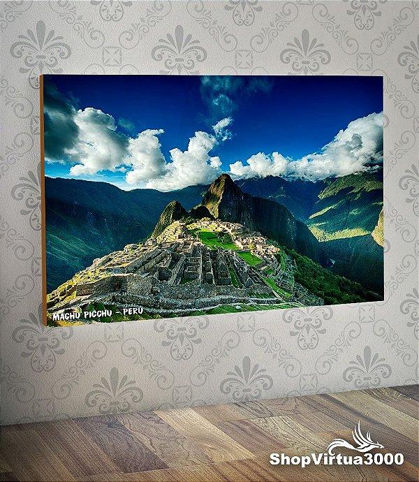 Placa em MDF Horizontal 6mm Ultra Brilho Personalizado Machu Picchu Peru - 01 Unidade