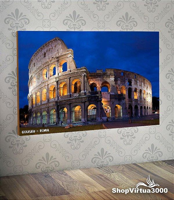 Placa em MDF Horizontal 6mm Ultra Brilho Personalizado Coliseu Roma - 01 Unidade