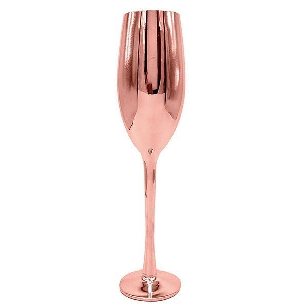 Taça Vidro Cristal P/ Champagne Rose 230ml (Linha Elegance Sublimação) (2681) - 01 Unidade