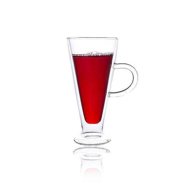 Taça Vidro Cristal Parede Dupla Cônico P/ Capuccino 250ml (Linha Elegance Sublimação) (2710) - 01 Unidade