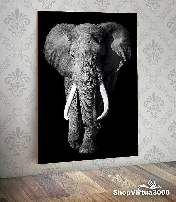 Placa em MDF Vertical 6mm Ultra Brilho Personalizado Elefante Dark - 01 Unidade