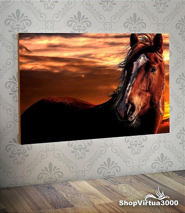Placa em MDF Horizontal 6mm Ultra Brilho Personalizado Cavalo Selvagem - 01 Unidade