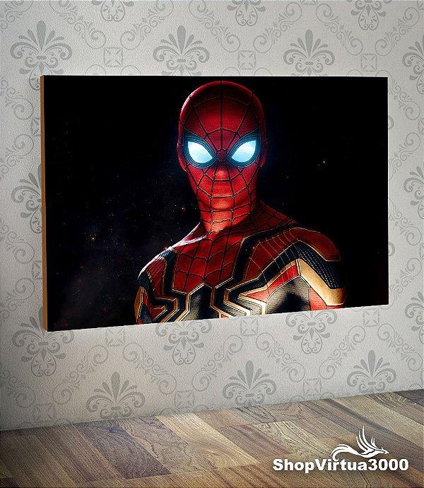 Placa em MDF Horizontal 6mm Ultra Brilho Personalizado Homem Aranha Modelo 01 - 01 Unidade
