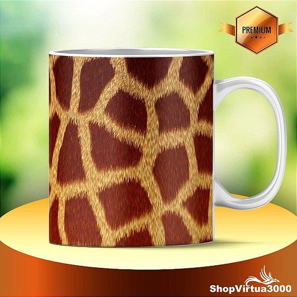 Caneca Cerâmica Classe +AAA Personalizada Textura Girafa - 01 Unidade