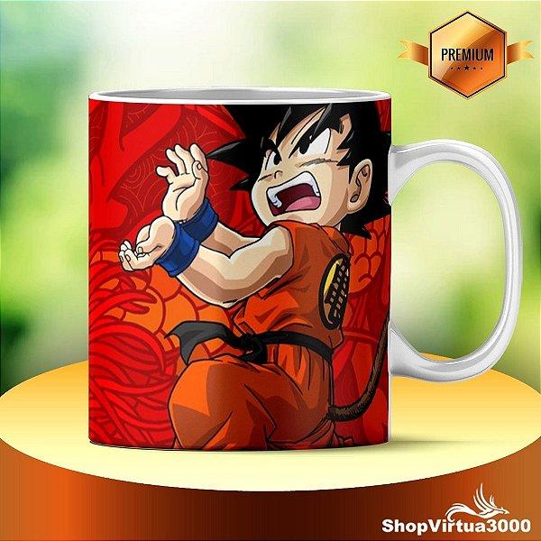 Caneca Cerâmica Classe +AAA Personalizada Goku Criança - 01 Unidade