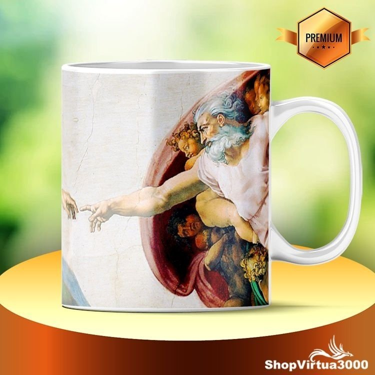 Caneca Cerâmica Classe +AAA Personalizada Arte Michelangelo - 01 Unidade