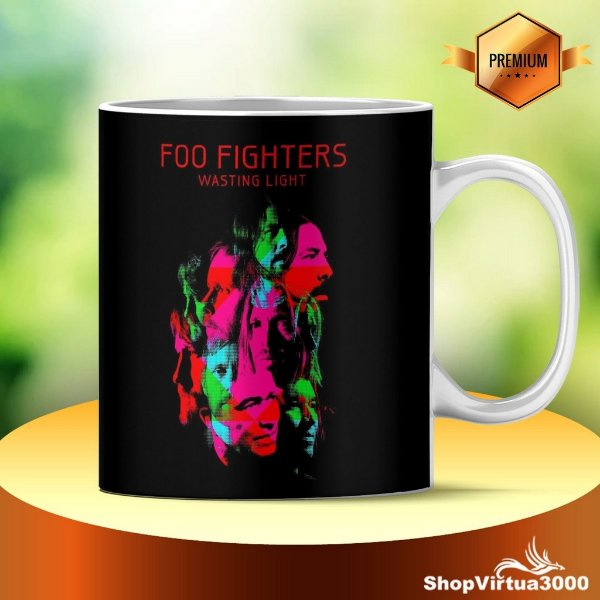 Caneca Cerâmica Classe +AAA Personalizada Foo Fighters - 01 Unidade