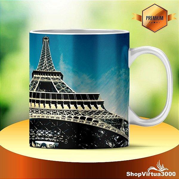 Caneca Cerâmica Classe +AAA Personalizada Torre Eiffel 01 - 01 Unidade