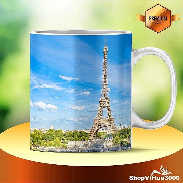 Caneca Cerâmica Classe +AAA Personalizada Torre Eiffel 04 - 01 Unidade