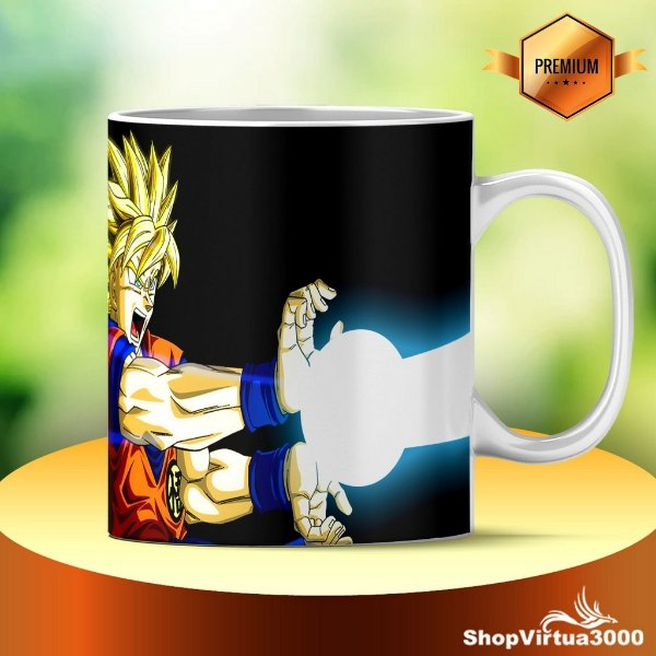 Caneca Cerâmica Classe +AAA Personalizada Dragon Ball Ka-me-ha-me-haa - 01 Unidade
