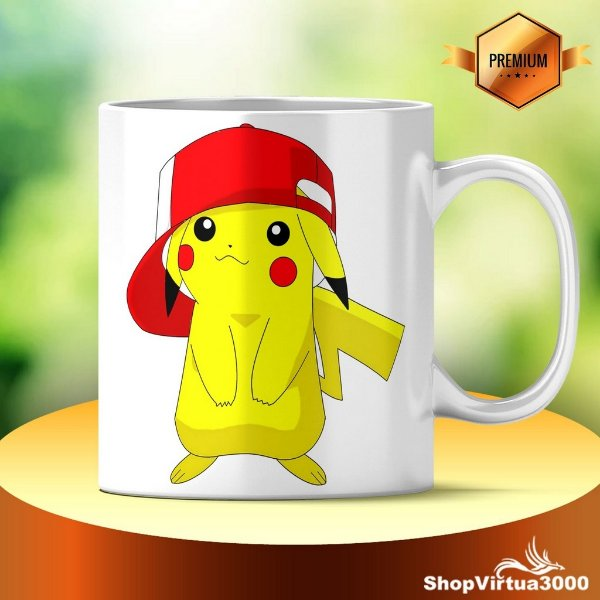 Caneca Cerâmica Classe +AAA Personalizada Pikachu Pokémon - 01 Unidade