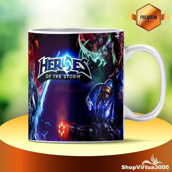 Caneca Cerâmica Classe +AAA Personalizada Heroes Of The Storm - 01 Unidade