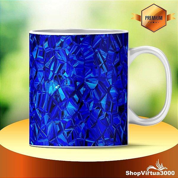 Caneca Cerâmica Classe +AAA Personalizada Abstrato Azul Royal - 01 Unidade