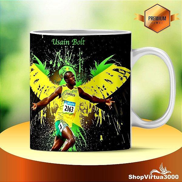 Caneca Cerâmica Classe +AAA Personalizada Usain Bolt Modelo 01 - 01 Unidade