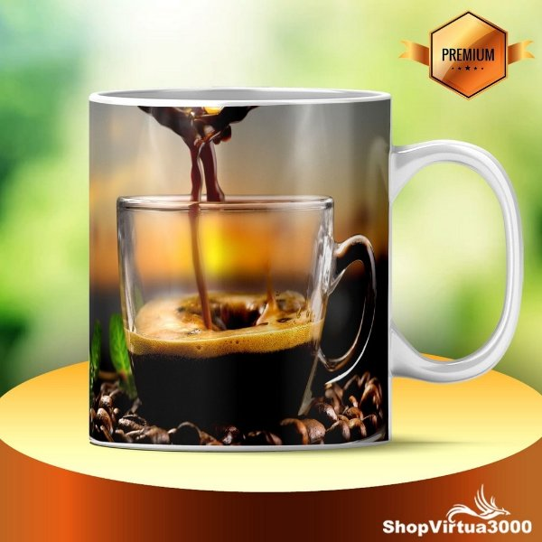 Caneca Cerâmica Classe +AAA Personalizada Coffee Shop - 01 Unidade
