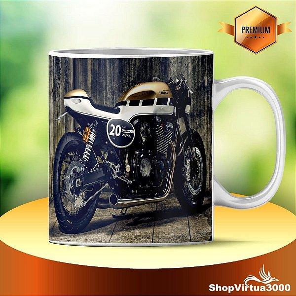 Caneca Cerâmica Classe +AAA Personalizada Triumph Cafe Racer - 01 Unidade