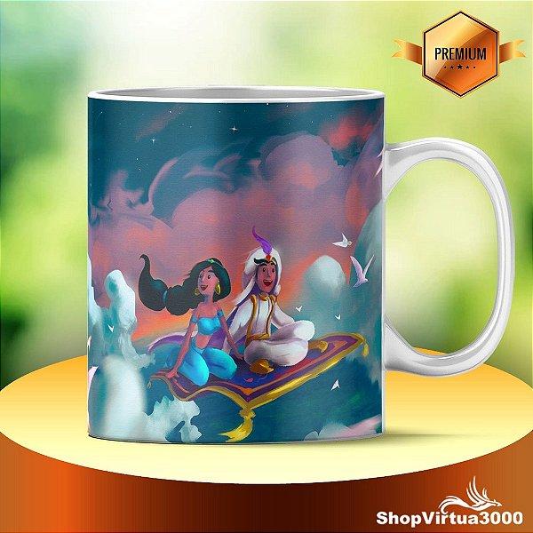 Caneca Ceramica Classe Aaa Personalizada Aladdin O Desenho Modelo