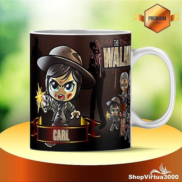 Caneca Cerâmica Classe +AAA Personalizada Carl The Walking Dead - 01 Unidade