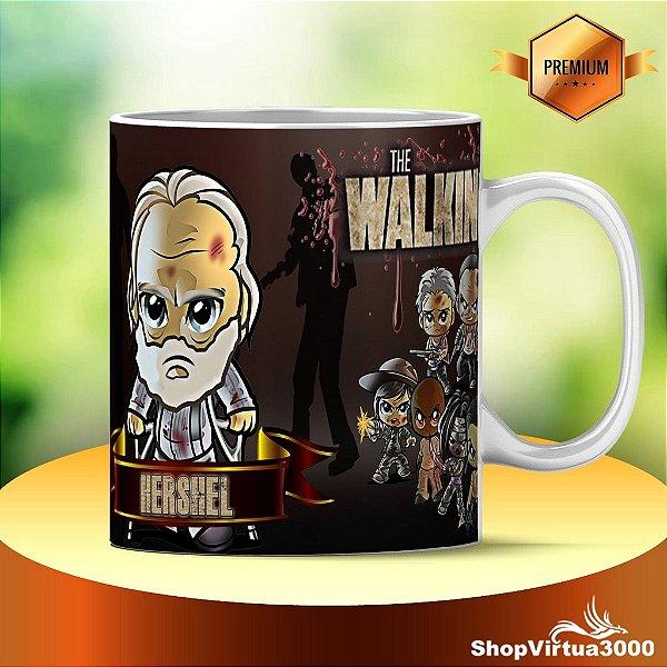 Caneca Cerâmica Classe +AAA Personalizada Hershel The Walking Dead - 01 Unidade