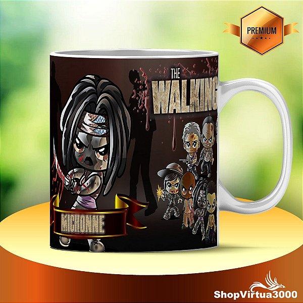 Caneca Cerâmica Classe +AAA Personalizada Michonne The Walking Dead - 01 Unidade