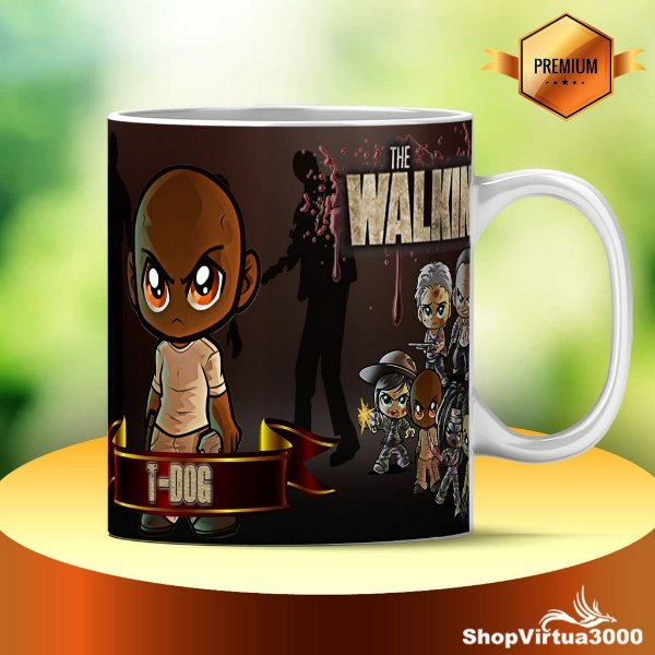 Caneca Cerâmica Classe +AAA Personalizada T-Dog The Walking Dead - 01 Unidade