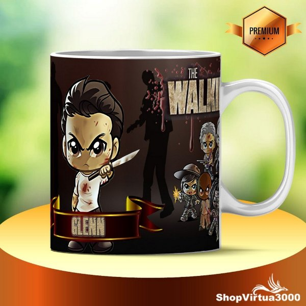 Caneca Cerâmica Classe +AAA Personalizada Gleen The Walking Dead - 01 Unidade
