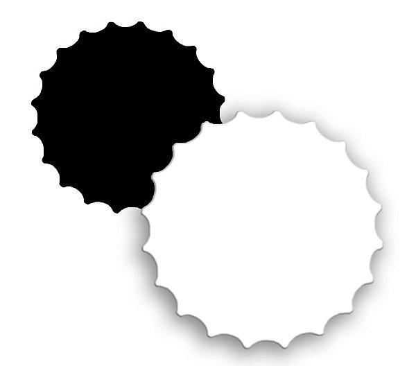Imã de Geladeira Tampinha em Mdf 3mm Branco Resinado para Sublimação Ultra Brilho (PH1104) - Pacote com 10 Unidades