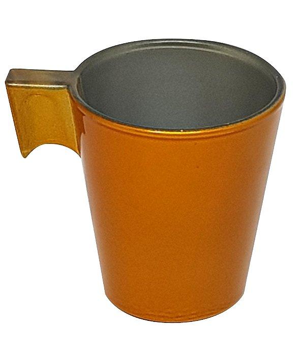 Xícara de Café Flashy 80ml Cor Amarelo Dourado P/Transfer Laser (2820) - 01 Unidade