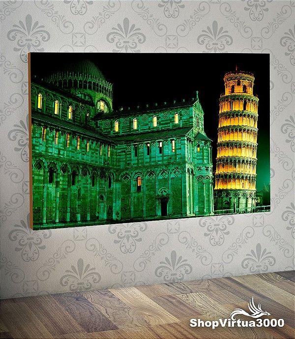Placa em MDF Horizontal 6mm Ultra Brilho Personalizado Torre de Pisa - 01 Unidade