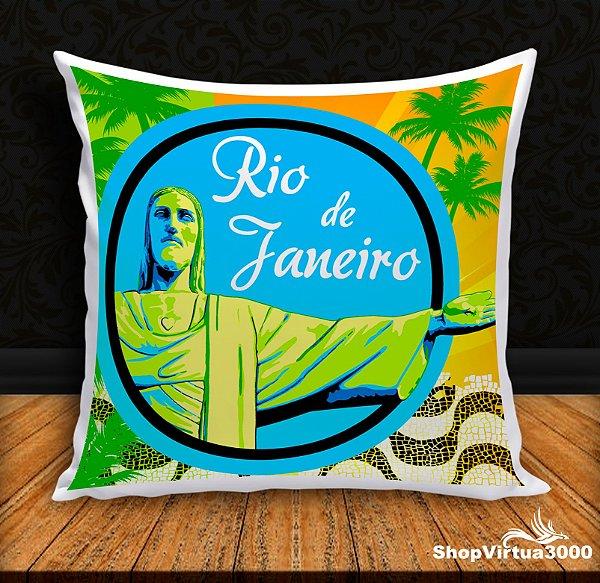 Almofada Personalizada Rio de Janeiro (Com Capa Material Oxford + Enchimento) - 01 Unidade