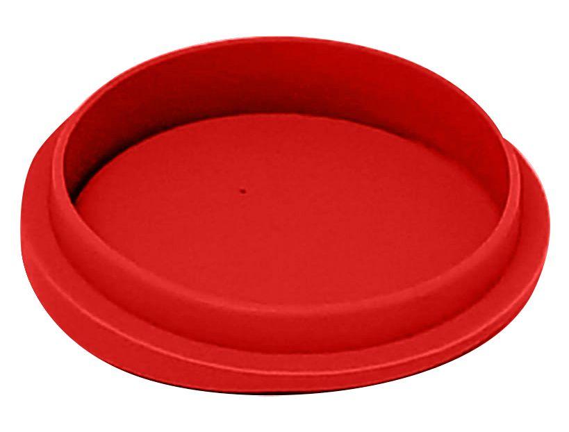Tampa Silicone P/ Canecas - 9 Cm D - Vermelha (2248) - 01 Unidade