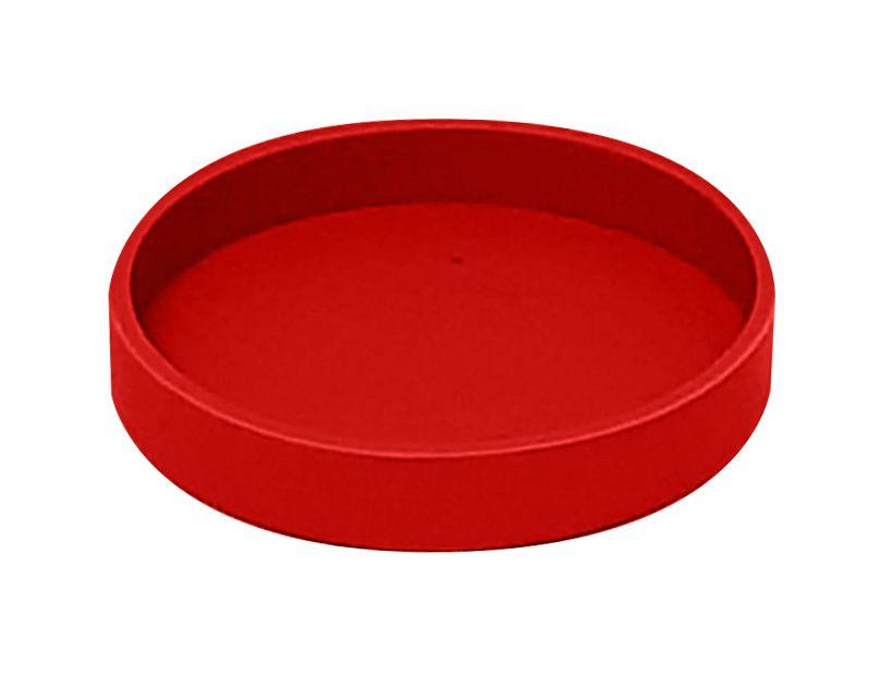 Base Silicone P/ Canecas - 7 Cm D - Vermelha (2260) - 01 Unidade