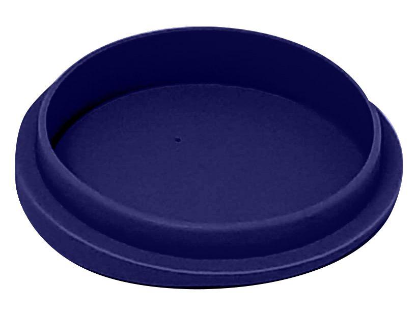 Tampa Silicone P/ Canecas - 9 Cm D - Azul Escuro (2250) - 01 Unidade