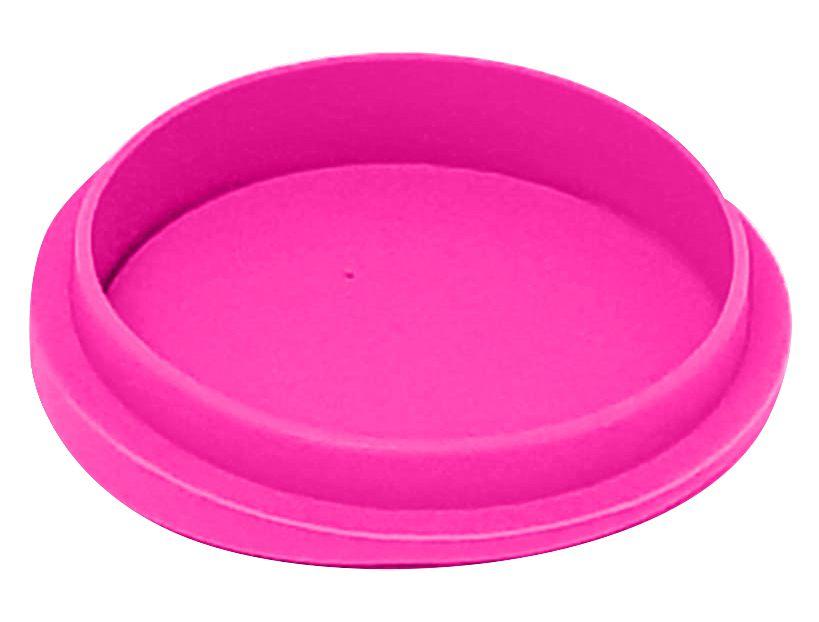 Tampa Silicone P/ Canecas - 9 Cm D - Rosa Pink (2252) - 01 Unidade