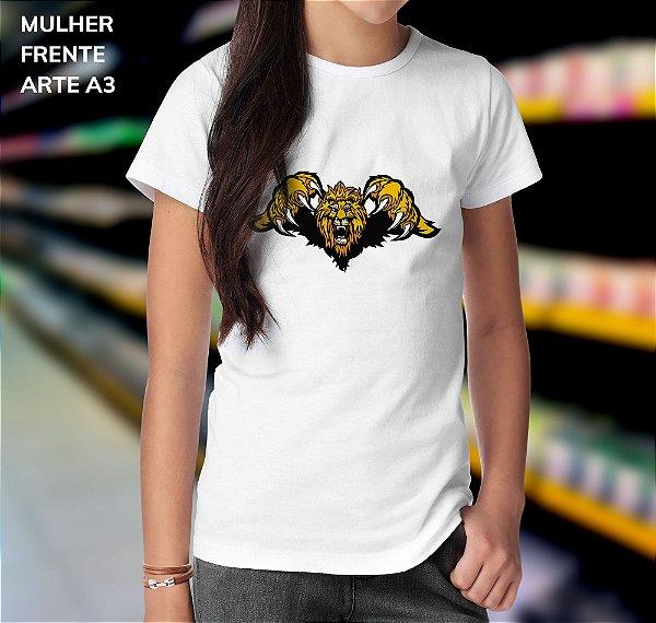 Camisa 100% Poliéster Personalizada Lion Art - 01 Unidade