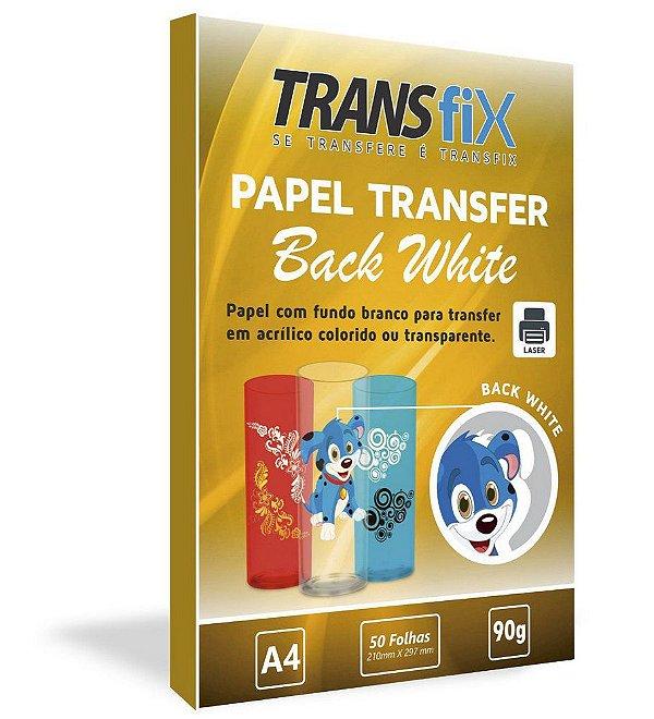 Papel Transfer Com Fundo Branco Back White Transfix - 50 Unidades (LINHA TRANSFER ESPECIAL)