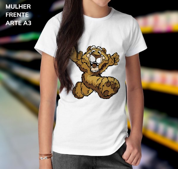 Camisa 100% Poliéster Personalizada Tigre Amigo - 01 Unidade