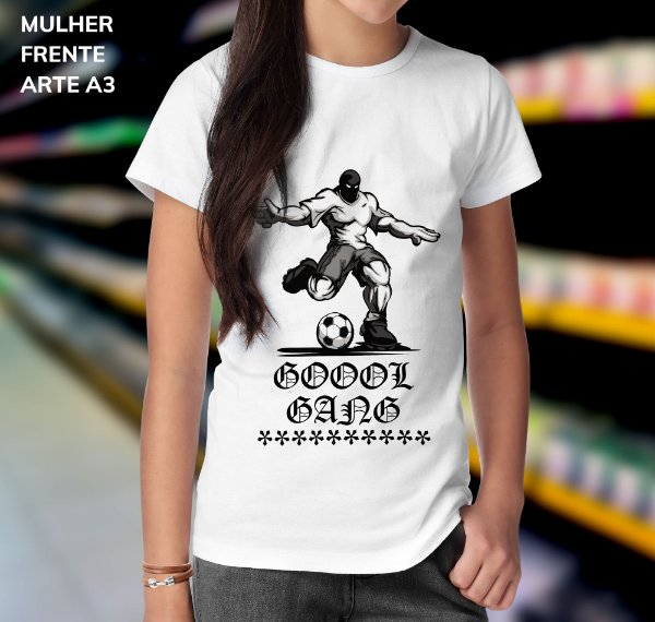 Camisa 100% Poliéster Personalizada Gool Gang  - 01 Unidade