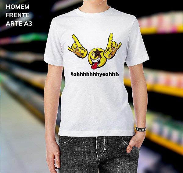 Camisa 100% Poliéster Personalizada #ohhhhhhhhyeahhh - 01 Unidade