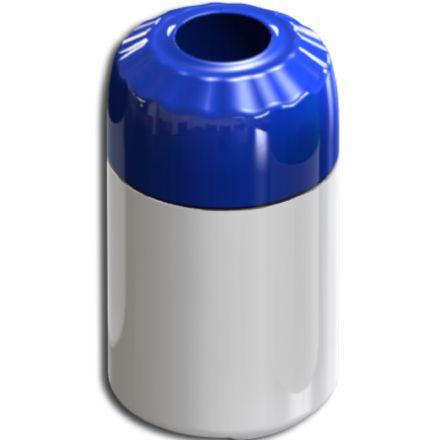Porta Litrinho Térmico 300ml e Lata 350ml Corpo Branco Com Tampa Azul para Trasfer Laser ou Silk (LG3003) - 01 Unidade