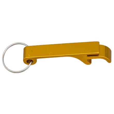 Chaveiro Abridor Em Aluminio 2x1 Dourado para Trasfer Laser (LG5014) - 01 Unidade