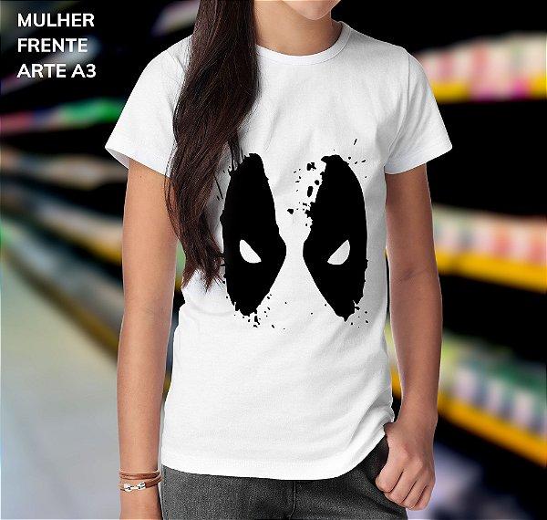 Camisa 100% Poliéster Personalizada Spider Man Mask - 01 Unidade