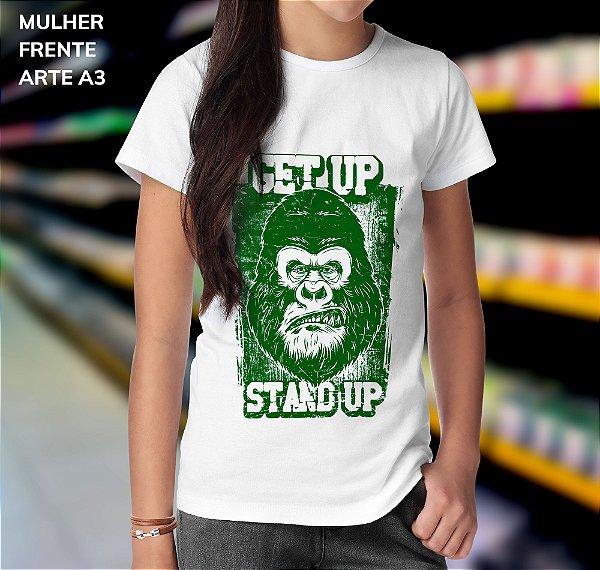 Camisa 100% Poliéster Personalizada Get Up Stard Up - 01 Unidade