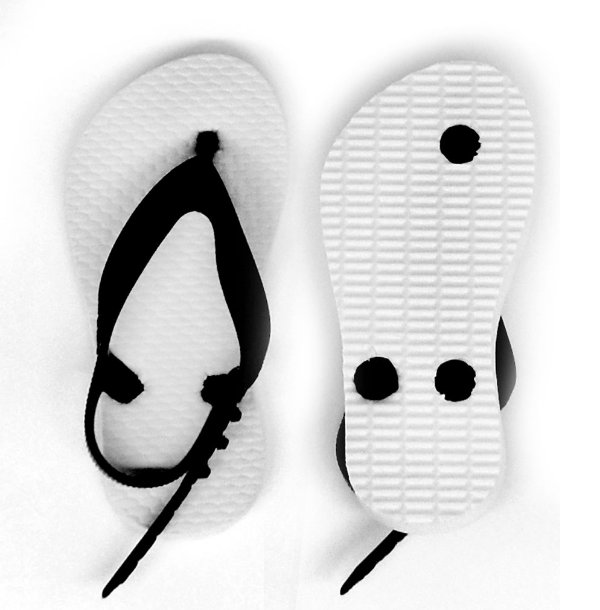 Chinelo Borracha Liso para Personalizar Transfer Laser, Silk, Strass Tira Baby Preta e Sola Branca Tamanho 21/22 (SP312) - 01 Unidade