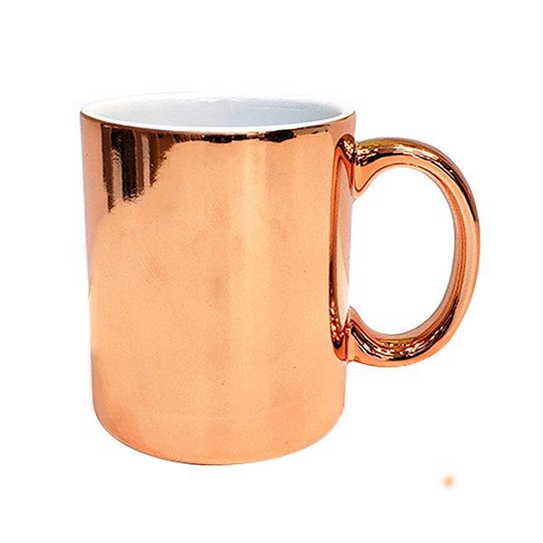 Caneca Cerâmica Cromada Bronze P/Sublimação 325ml ShopVirtua3000® - 01 Unidade