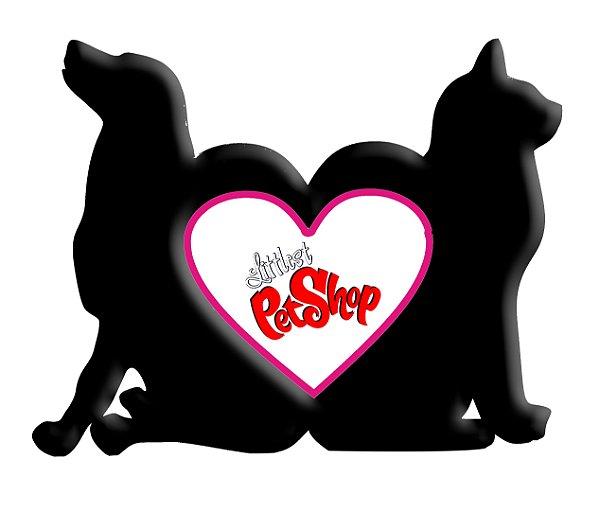 Porta Retrato Linha Pet Cão e Gato 24x20cm Mdf Preto 9mm Com 01 Peça Branca Resinada para Sublimação 11x9,5cm Ultra Brilho - 01 Unidade (PH1435)